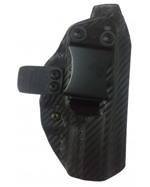 COLDRE DE KYDEX SLIM INTERNO PARA GLOCK G26 / G27 / G28 COR CARBON BLACK